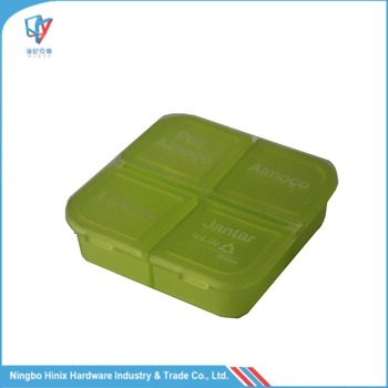 4 Grid 7 day Plastic Pill Organizer Box