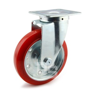 Industrial Heavy Duty Rigid Swivel Plate Splint Metal Steel Caster Wheel
