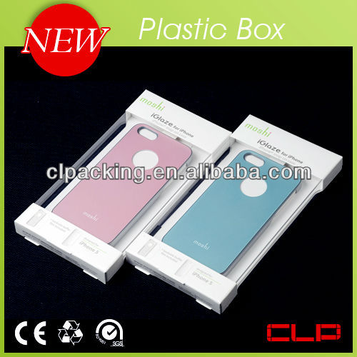 Clear plastic packaging design cell phone accessories