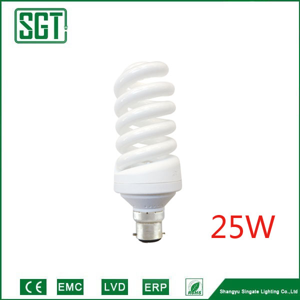 Full Spiral 15W 20W 25W 50W tri-color phosphor 2700k saving energy