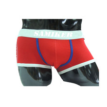 Samiker 170gsm cotton ren color front open mens underwear boxer