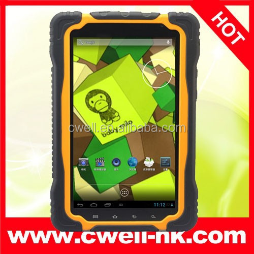 7 Inch MTK6589 Quad Core Bluetooth GPS Hugerock T70S IP66 Grade Waterproof Android tablet pc Chinese OEM Tablet PC