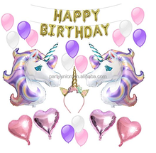 Unicorn Balloons Birthday Party Supplies for Kids Birthday Decorations, Baby Shower Decorations