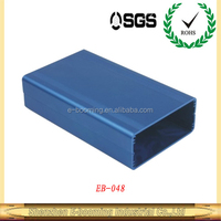 aluminum extrusion enclosure/custom anodize extruded power supply enclosure/aluminum housing for PCB