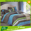 4pcs quality colorful cotton bed sheet