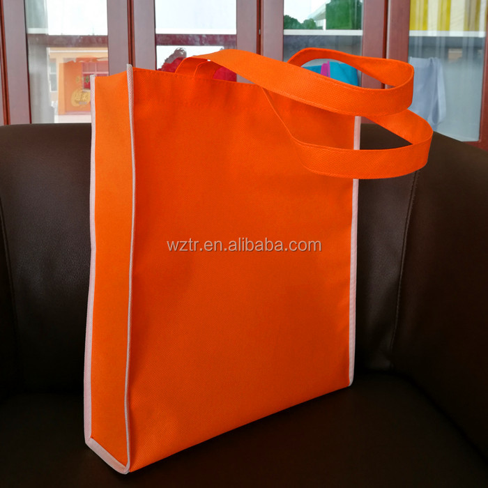 100% PP non woven fair trade blank tote bags with custom size online wholesale