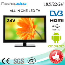popular 24inch led tv HD LED TV/ hotel tv with DVD combo/hdm+usb/dvb-t2/c/s