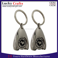 Customized car Logo cheap Promotional metal key chain with free sample