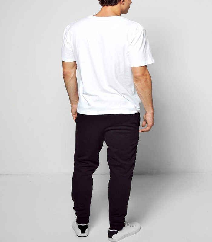Wholesale Custom Skinny Fit Blank Men Jogger Pants With Rips And Zips