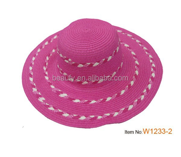 Beach straw hat for lady , ladies straw hat for dress