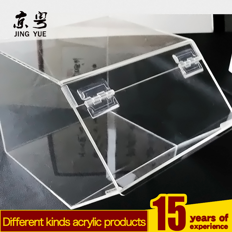 Clear plexiglass sweets candy display divider case plastic candy bin acrylic candy storage box