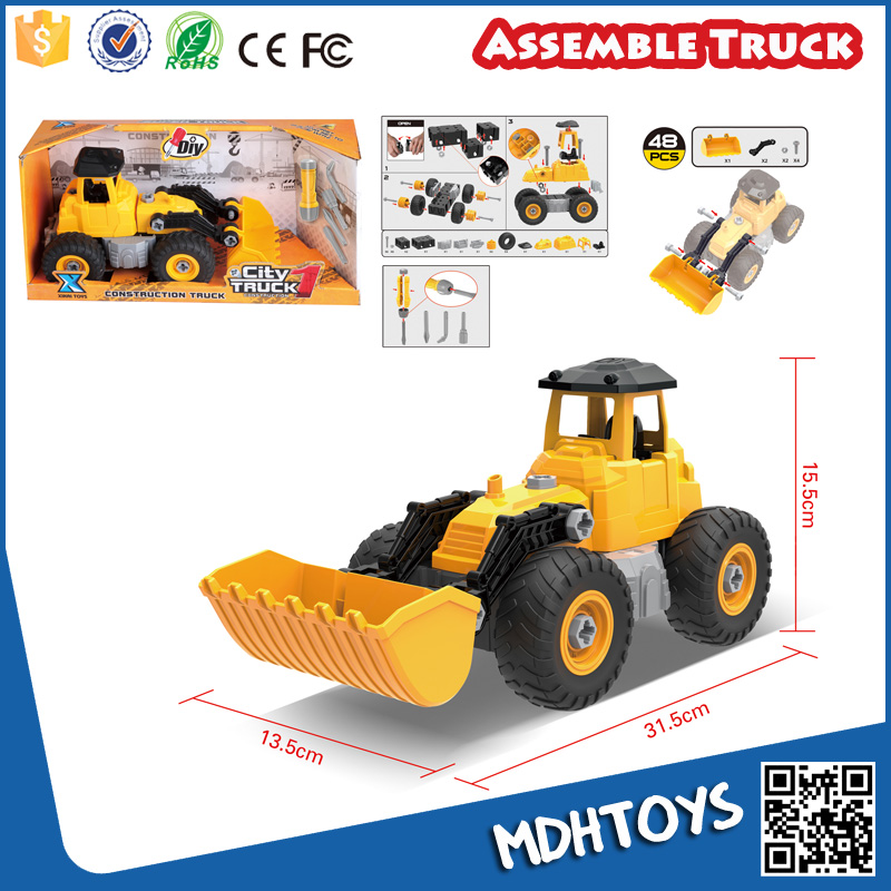 Assemble toy diy construction truck educational tool toys for kids