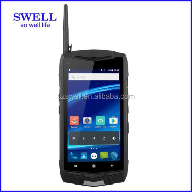 2017 swell dual wifi 1d 2d scanner IP 67 3G Water Proof Rugged Android Smart Phone/dual sim/mtk6589 NO.1