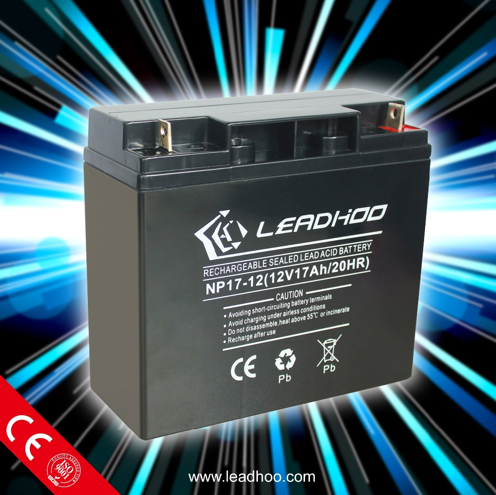 VRLA battery 12V17AH for electric bike/bicycle