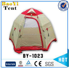 Double Layer Pink Dome Camping Tent
