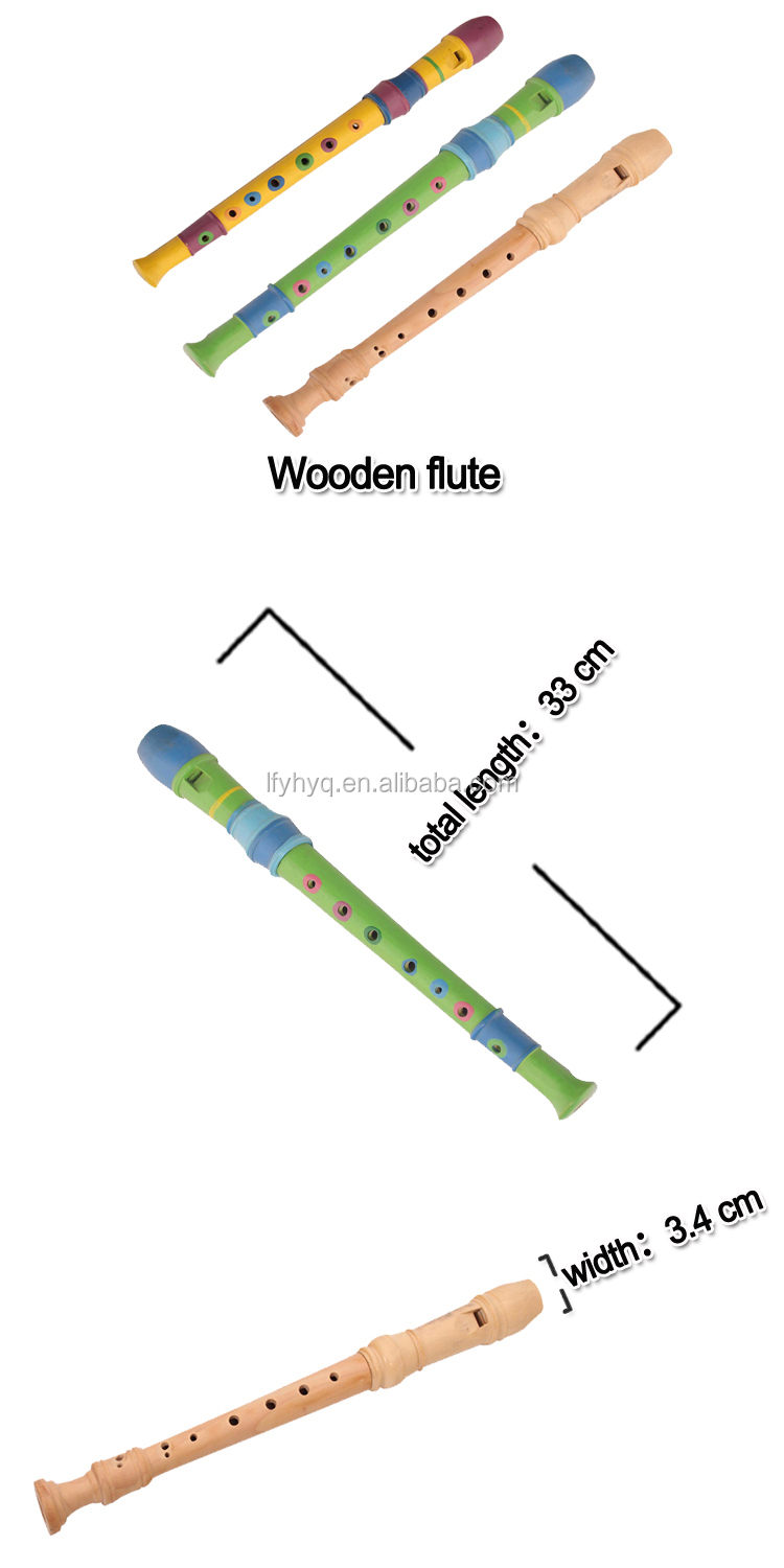 cheap musical instruments wooden flute for kids