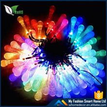 Item No.80299 solar boll plastic ball party street string 10 led cool white color solar garden light
