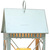 house metal lantern white set of 2