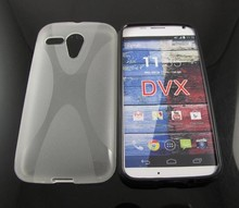 2014 NEW X line tpu case for Motorola MOTO G DVX, TPU Soft Cover Case for MOTO G