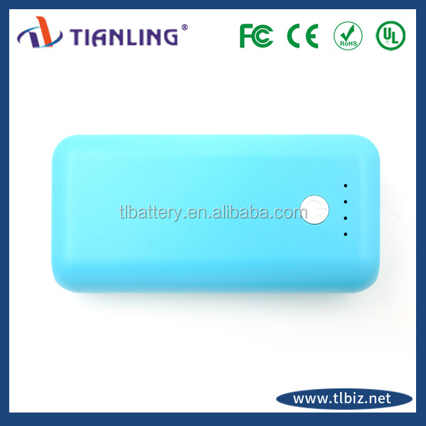 universal portable power bank with Micro USB input port 6000mAh