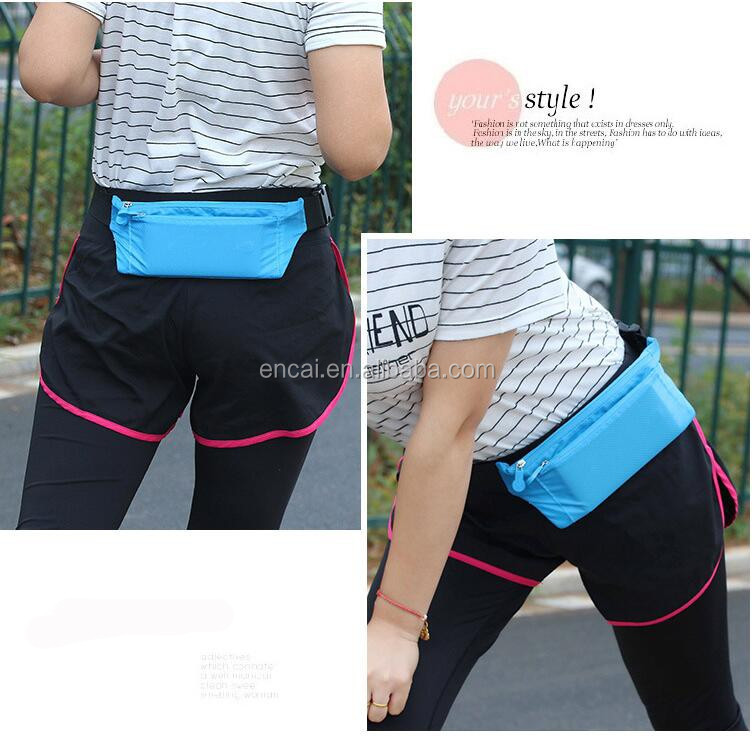 Encai Travel Colorful Money Belt Slim Hidden Waist Pack Bag For Passport Sports Waist Bag