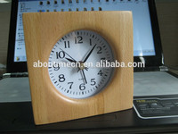 Handmade quartz analog wood table clock cheap alarm clock