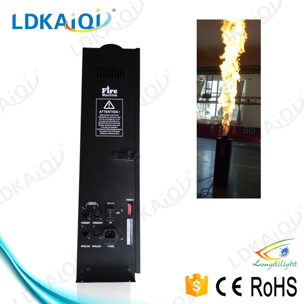 Professional cheap DJ/stage/club/bar/Disco/show flame equipment 200w spray/fire machine/projector supply,