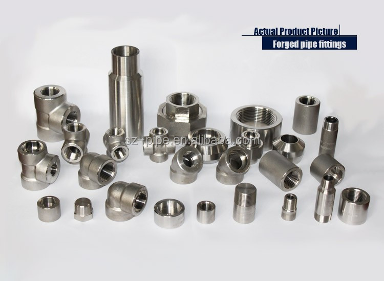 Forged High Pressure steel forged pipe fitting astm a182 f53