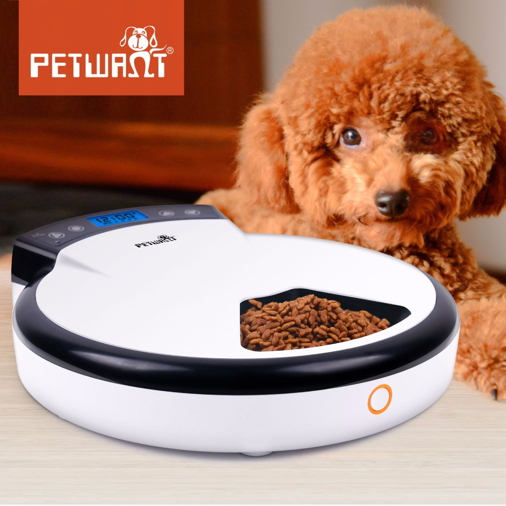 New Design Wholesale 5 Meal Automatic Pet Feeder Cat and Dog Feeder Timer