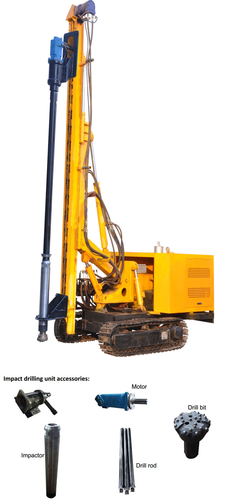 Solar Station Install Drilling Machine Ground Screw Pile