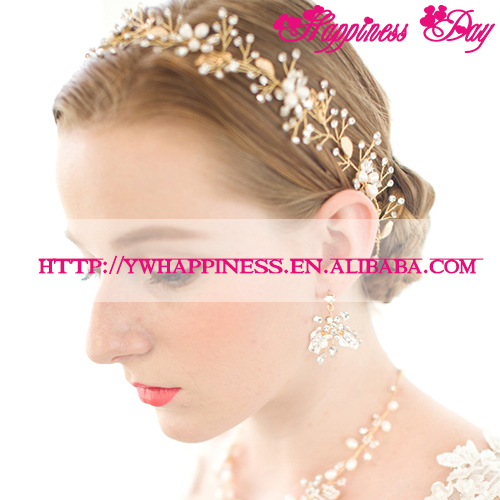 New Designs Vintage Baroque Rhinestone Crown Hairband Bridal Wedding Pageant Tiara Headband Crystal Hair Accessories