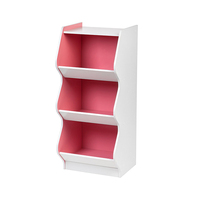 Wholesale China Supplier indoor children furniture toys storage cabinets with 3 compartments