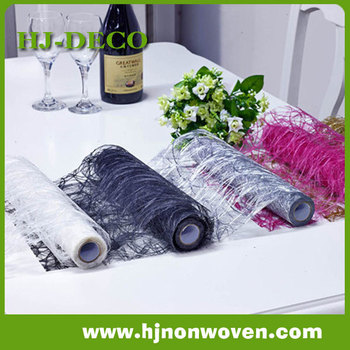 Deluex sisal web table runner for table runner