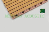 folding doors room dividers /Grooved Acoustic Wood Wall Panel