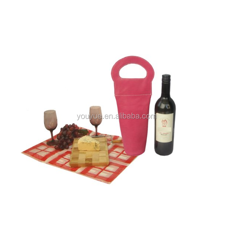 Factory Price Cheap Leather Wine Glass Holder