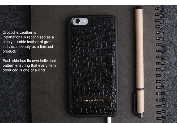 Luxury case For Apple iphone 6 /6Plus Phone case Genuine Crocodile Leather Cover