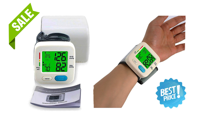 Rechargeable Digital Blood Pressure Monitor Wireless BP Meter Artificial Intelligence Body Checking Device for Hospital Home Use