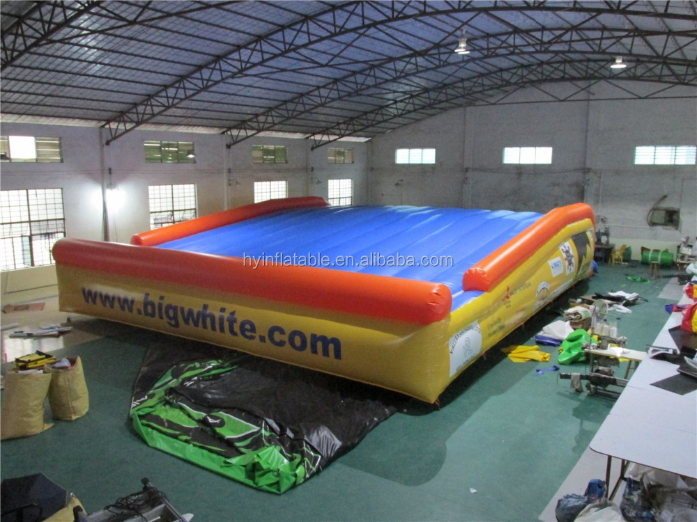 Safety inflatable big air bag,square inflatable cushion,bungee jumping air bag