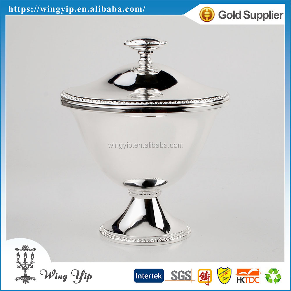 Custom made fancy DinnerTop Grand Chrome Plated Bowl for souvenir