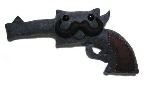 2014 design gun plush toy for chirstmas