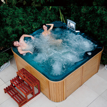 SPA-H01 5 person outdoor two lounge hot tub/ spa up tv/ spa bubble bath