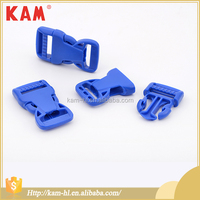 Decoration blue side release custom plastic nylon belt buckle for men