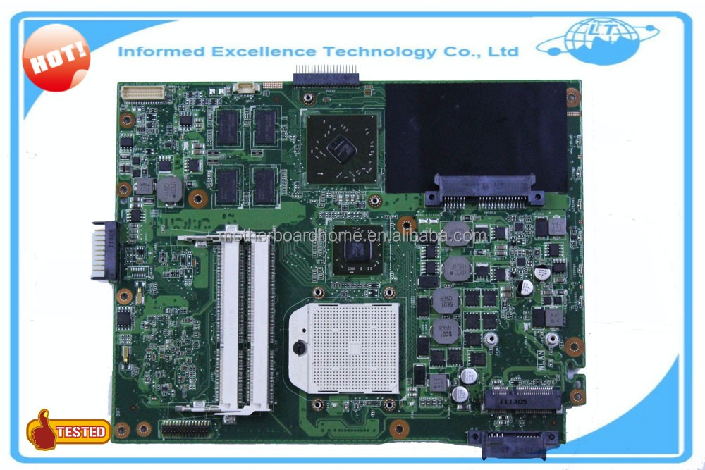 Original laptop motherboard for asus K52DR mainboard REV3.1 Socket S1 DDR3