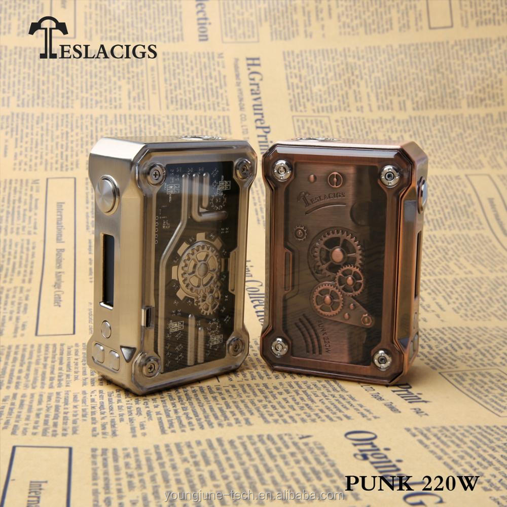 Upgraded design of steampunk 120W, punk 220W from Teslacigs coming out!