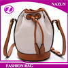 2016 latest customized cheap sling drawstring lady design cross body leather single strap shoulder bag
