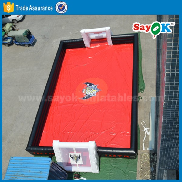 outdoor inflatable soap football field inflatable sop soccer field