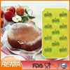 RENJIA non stick bakeware,heart shape mould,silicone fruit shape molds