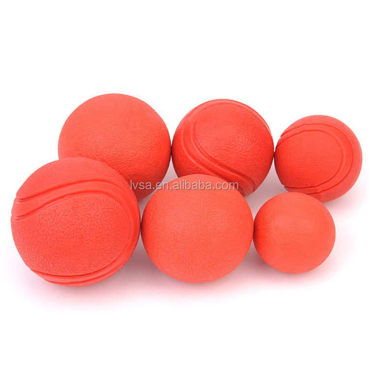 Dog Chew Toys Rubber Elastic Bouncing Fetch Ball