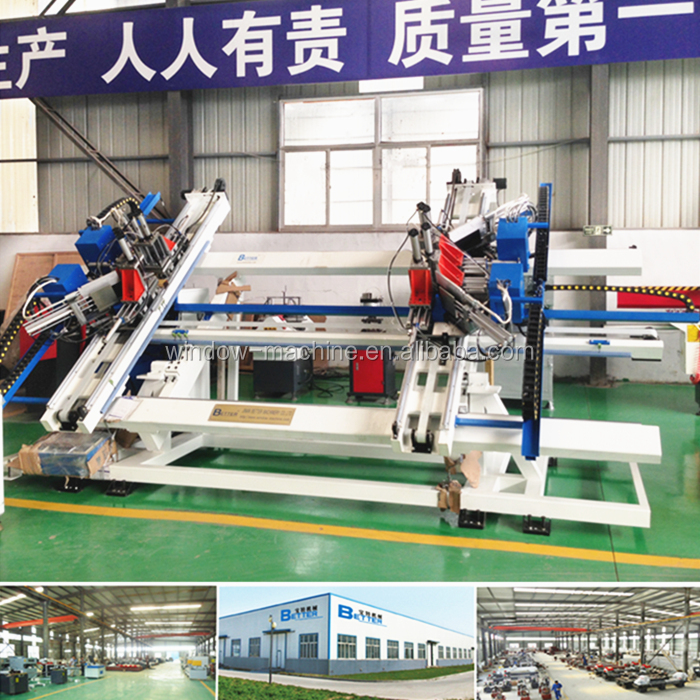 Vertical 4 Point Window Fabrication Machine for welding pvc profile