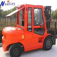 Strong Power Four Wheel 4 ton diesel forklift truck with Imported Engine